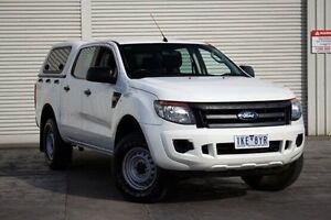 2012 Ford Ranger PX XL Double Cab White 6 Speed Sports Automatic Utility Seaford Frankston Area Preview