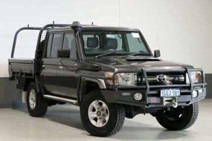 2016 Toyota Landcruiser VDJ79R MY12 Update GXL (4x4) Grey 5 Speed Manual Double Cab Chassis Bentley Canning Area Preview
