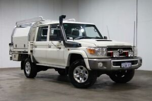 2016 Toyota Landcruiser VDJ79R GXL Double Cab White 5 Speed Manual Cab Chassis Welshpool Canning Area Preview
