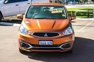 2016 Mitsubishi Mirage LA MY16 ES Orange 1 Speed Constant Variable Hatchback Wilson Canning Area Preview