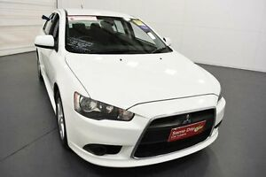 2014 Mitsubishi Lancer CJ MY14.5 ES Sport White 6 Speed CVT Auto Sequential Sedan Moorabbin Kingston Area Preview