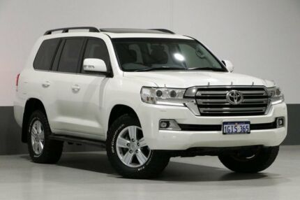 2017 Toyota Landcruiser VDJ200R MY16 VX (4x4) Pearl White 6 Speed Automatic Wagon Bentley Canning Area Preview