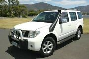 2007 Nissan Pathfinder R51 MY07 ST-L White 5 Speed Sports Automatic Wagon Derwent Park Glenorchy Area Preview