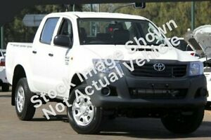 2012 Toyota Hilux KUN26R MY12 Workmate Double Cab White 4 Speed Automatic Utility Murray Bridge Murray Bridge Area Preview