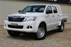 2013 Toyota Hilux KUN26R MY12 SR (4x4) Glacier White 4 Speed Automatic Cab Chassis Windradyne Bathurst City Preview