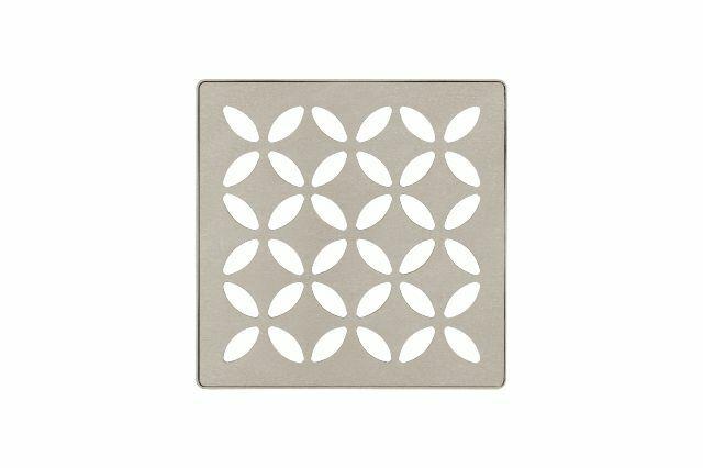 Schluter Systems Kerdi-Drain Grate 4-in Greige Floral KDIF4GRKTSBGD5