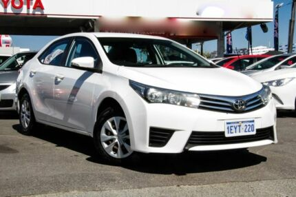 2016 Toyota Corolla ZRE172R Ascent S-CVT Glacier White 7 Speed Constant Variable Sedan Osborne Park Stirling Area Preview