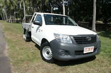 2013 Toyota Hilux TGN16R MY12 Workmate Glacier White 5 Speed Manual Cab Chassis The Gardens Darwin City Preview