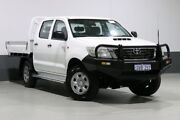 2012 Toyota Hilux KUN26R MY12 SR (4x4) White 5 Speed Manual Dual Cab Chassis Bentley Canning Area Preview