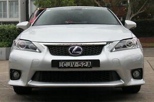 2012 Lexus CT 200H. Hybrid ZWA10R F Sport Silver 1 Speed Continuous Variable Hatchback Mosman Mosman Area Preview