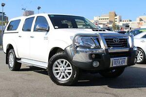 2013 Toyota Hilux KUN26R MY14 SR5 Double Cab Glacier White 5 Speed Automatic Utility Northbridge Perth City Area Preview