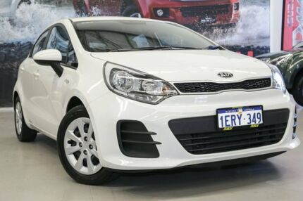 2015 Kia Rio UB MY15 S White 4 Speed Automatic Hatchback