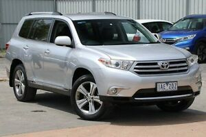 2013 Toyota Kluger GSU40R MY12 KX-S 2WD Silver 5 Speed Sports Automatic Wagon Ferntree Gully Knox Area Preview