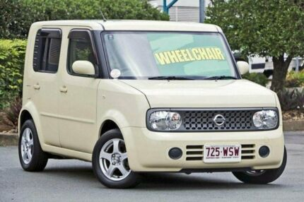 2007 Nissan Cube Yellow Automatic wheelchair