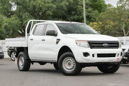 2012 Ford Ranger PX XL Double Cab White 6 Speed Manual Utility Indooroopilly Brisbane South West Preview