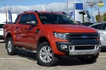 2014 Ford Ranger PX Wildtrak Double Cab Orange 6 Speed Sports Automatic Utility Wangara Wanneroo Area Preview