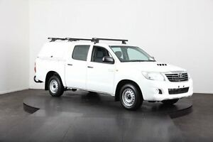 2012 Toyota Hilux KUN16R MY12 SR White 5 Speed Manual Dual Cab Pick-up Mulgrave Hawkesbury Area Preview