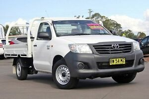 2013 Toyota Hilux TGN16R MY12 Workmate White 4 Speed Automatic Cab Chassis McGraths Hill Hawkesbury Area Preview