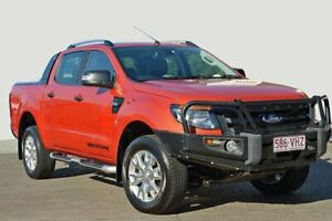 2014 Ford Ranger PX Wildtrak Double Cab Orange 6 Speed Sports Automatic Utility Kedron Brisbane North East Preview