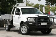 2010 Toyota Hilux KUN26R MY10 SR Glacier White 4 Speed Automatic Cab Chassis Adelaide CBD Adelaide City Preview