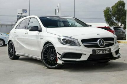 2014 Mercedes-Benz A45 W176 805+055MY AMG SPEEDSHIFT DCT 4MATIC White 7 Speed Kirrawee Sutherland Area Preview
