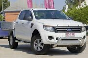 2013 Ford Ranger PX XL Double Cab 4x2 Hi-Rider White 6 Speed Sports Automatic Cab Chassis East Toowoomba Toowoomba City Preview