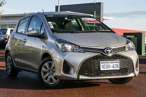 2014 Toyota Yaris NCP130R YR Silver 5 Speed Manual Hatchback East Rockingham Rockingham Area Preview