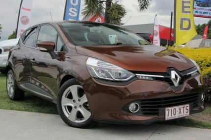 2014 Renault Clio IV B98 Expression EDC Brown 6 Speed Sports Automatic Dual Clutch Hatchback