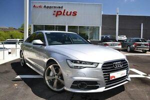 2016 Audi A6 4G MY16 S Line Tiptronic quattro Bi-Turbo Silver 8 Speed Sports Automatic Sedan Burwood Whitehorse Area Preview