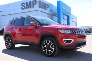 2018 Jeep Compass Limited - Leather, Sunroof, Nav, Rem Start