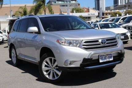 2013 Toyota Kluger GSU40R MY13 Upgrade Grande (FWD) Silver Pearl 5 Speed Automatic Wagon Northbridge Perth City Area Preview