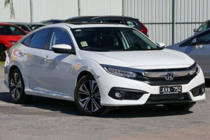 2018 Honda Civic 10th Gen MY18 VTI-LX White 1 Speed Constant Variable Sedan Ferntree Gully Knox Area Preview