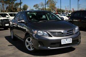 2012 Toyota Corolla ZRE152R MY11 Conquest Grey 4 Speed Automatic Sedan Frankston Frankston Area Preview