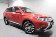 2016 Mitsubishi Outlander ZK MY17 LS 4WD Red 6 Speed Constant Variable Wagon Invermay Launceston Area Preview