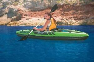 Intex Inflatable Kayak Canoe 68307 Intex Challenger K1 with Oars Clayton South Kingston Area Preview