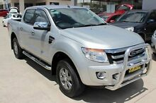 2012 Ford Ranger PX XLT Double Cab 4x2 Silver Sports Automatic Utility East Maitland Maitland Area Preview