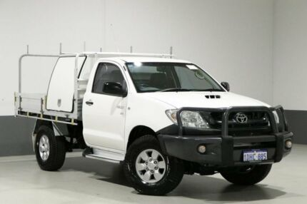 2009 Toyota Hilux KUN26R 09 Upgrade SR (4x4) White 5 Speed Manual Cab Chassis Bentley Canning Area Preview