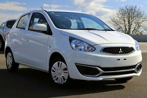 2016 Mitsubishi Mirage White Constant Variable Hatchback Nunawading Whitehorse Area Preview