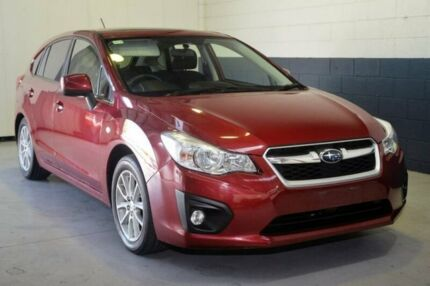 2014 Subaru Impreza G4 MY14 2.0i Lineartronic AWD Luxury Red 6 Speed Constant Variable Hatchback