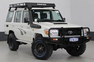 2015 Toyota Landcruiser VDJ76R MY12 Update Workmate (4x4) White 5 Speed Manual Wagon Bentley Canning Area Preview