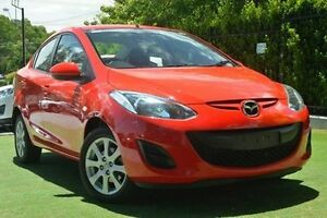 2010 Mazda 2 DE10Y1 MY10 Maxx Red 5 Speed Manual Sedan Paradise Campbelltown Area Preview