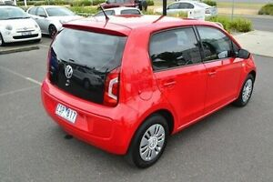 2012 Volkswagen UP! (No Series) Red 5 Speed Manual Hatchback Strathmore Heights Moonee Valley Preview