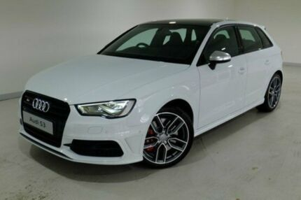 2015 Audi S3 8V MY15 Sportback S tronic quattro Glacier White 6 Speed Sports Automatic Dual Clutch H Glebe Hobart City Preview