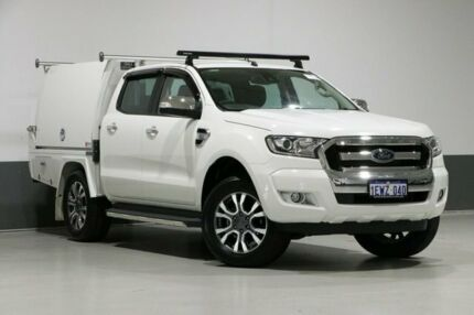 2015 Ford Ranger PX MkII XLT 3.2 (4x4) White 6 Speed Manual Dual Cab Utility Bentley Canning Area Preview