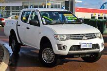 2010 Mitsubishi Triton MN MY10 GLX Double Cab White 4 Speed Automatic Utility East Rockingham Rockingham Area Preview