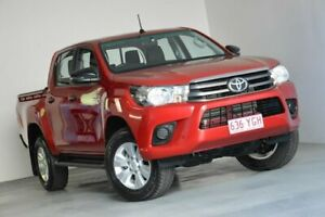 2018 Toyota Hilux GUN126R SR Double Cab Red 6 Speed Sports Automatic Utility Indooroopilly Brisbane South West Preview