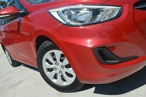 2015 Hyundai Accent RB2 MY15 Active Red 4 Speed Sports Automatic Hatchback Thornleigh Hornsby Area Preview