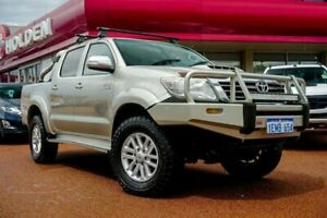 2014 Toyota Hilux KUN26R MY14 SR5 Double Cab Silver 5 Speed Automatic Utility