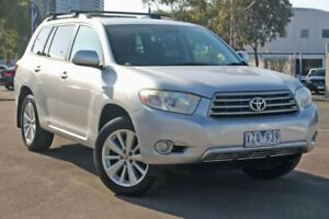 2010 Toyota Kluger GSU40R Altitude 2WD Silver 5 Speed Sports Automatic Wagon Docklands Melbourne City Preview