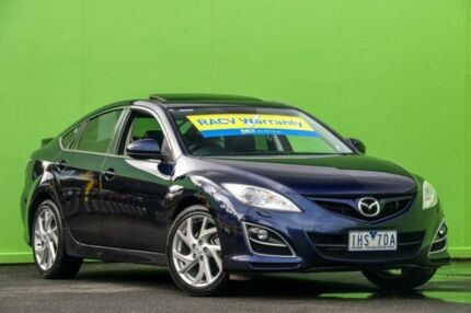 2012 Mazda 6 GH1052 MY12 Luxury Sports Blue 5 Speed Sports Automatic Hatchback Ringwood East Maroondah Area Preview